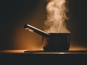 בישול גרגרי חומוס בפועל